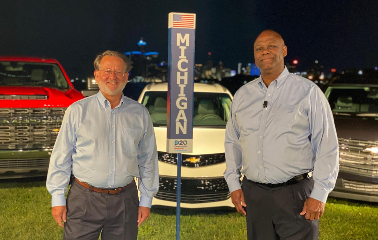 Senator Gary Peters and UAW Secretary-Treasurer Ray Curry
